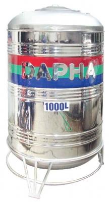 Bồn Inox Dapha 1000 lít ĐỨNG Xuất Khẩu